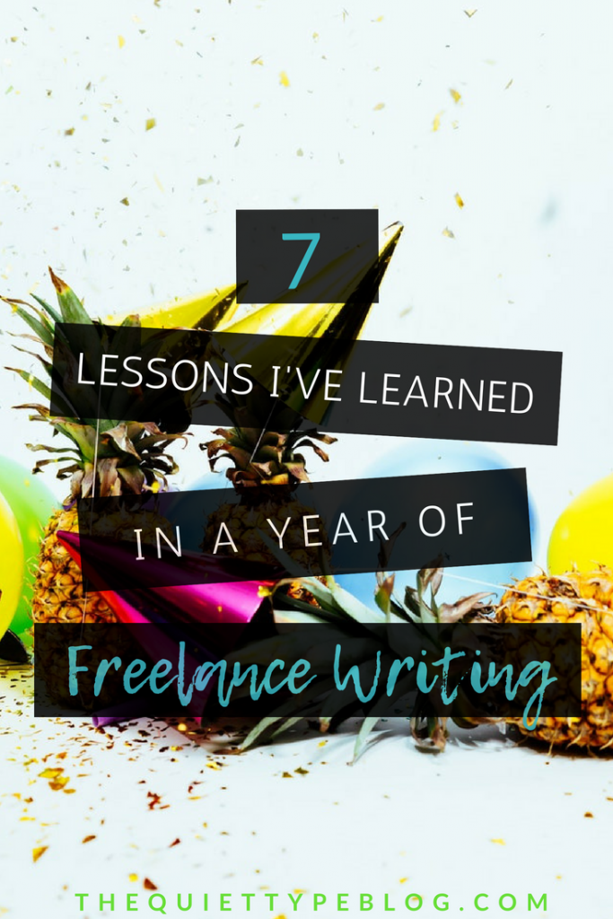 Get started working from home with these 7 tips I learned in my first year as a freelance writer. #makemoneyonline #freelance #getpaidtowrite