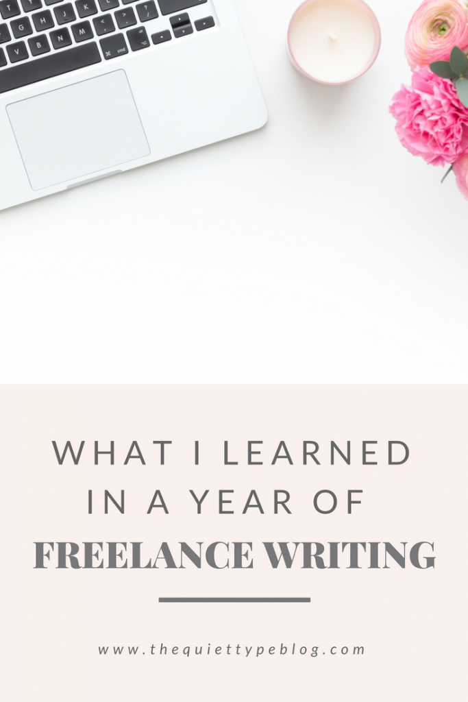 Check out this post for everything I've learned in a year of freelance writing. This post includes tips on making money working from home as a freelance writer, starting a blog, managing your self-employment finances, and being productive as a freelancer.