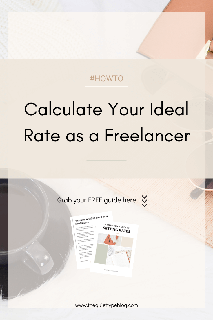 Struggling to set your rates as a freelancer? We've all been there! Grab your FREE copy of A Freelancer's Guide to Setting Rates to learn how to calculate your ideal hourly and fixed project rates + a bonus formula to help freelance writers calculate their ideal per word rate.