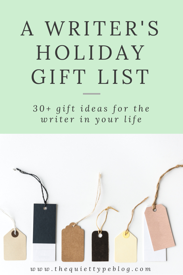 Struggling with gift ideas for the writer in your life? This gift guide has over 30 unique gift ideas to knock their socks off this holiday season!