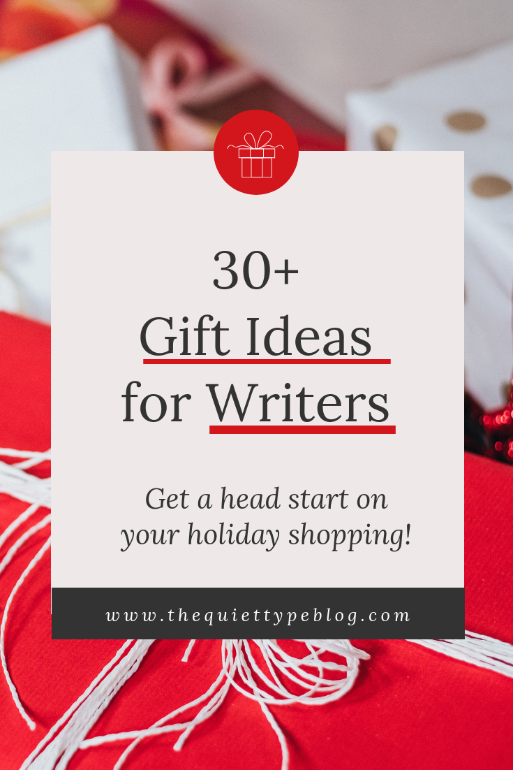 Get a head start on your holiday shopping with this gift guide full of 30+ unique gift ideas for writers!