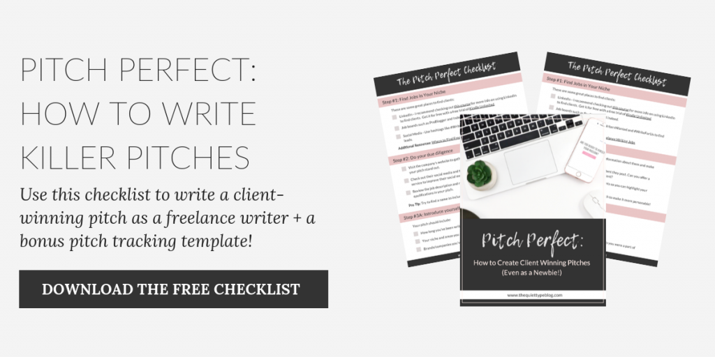 Pitch Perfect: How to write killer pitches and win clients as a freelance writer #freelancewriting #workfromhome
