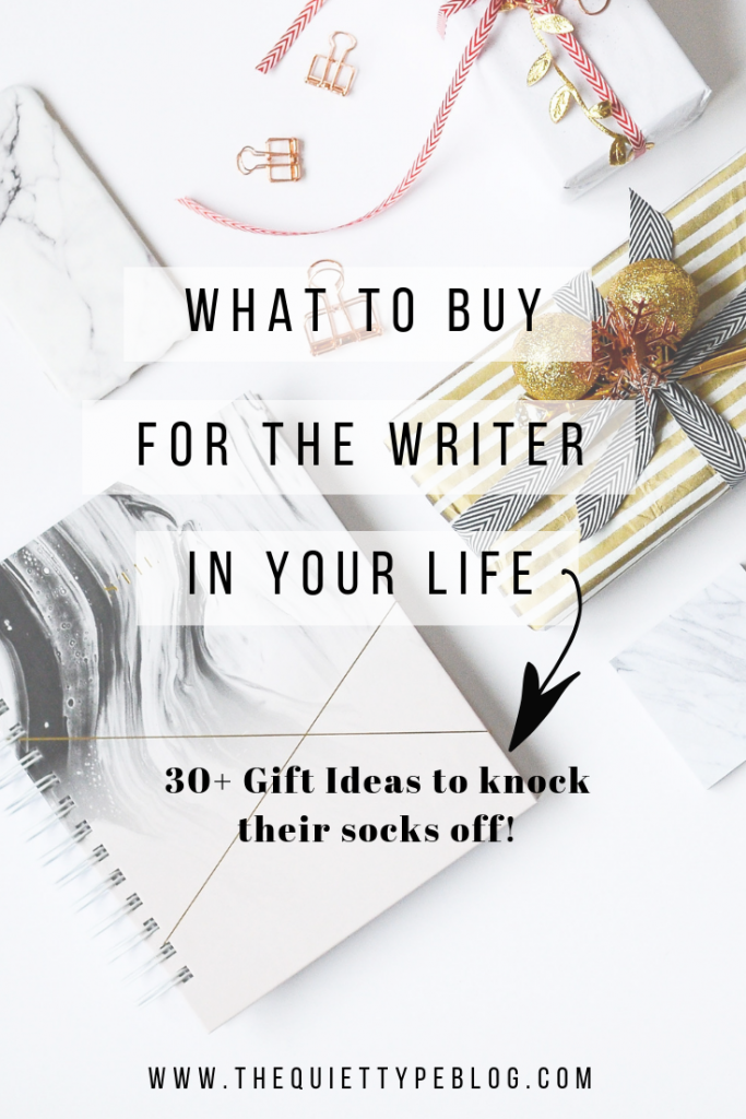 Wondering what kind of gift to buy for the freelance writer in your life? Check out this list of 30+ unique gift ideas! #giftsforwriters #giftguide