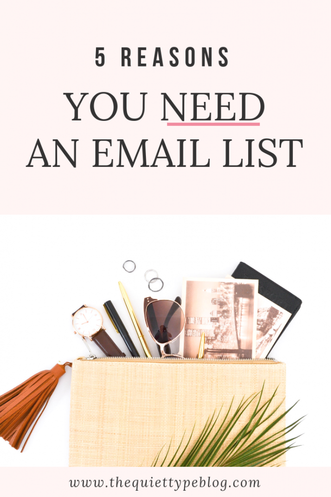Thinking about starting an email list? Here's why growing an email list is an essential element of your business.
