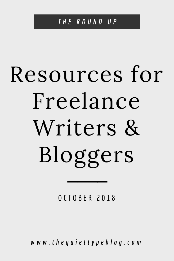 A round up of the best resources, tips and tricks for freelance writers and bloggers during October.