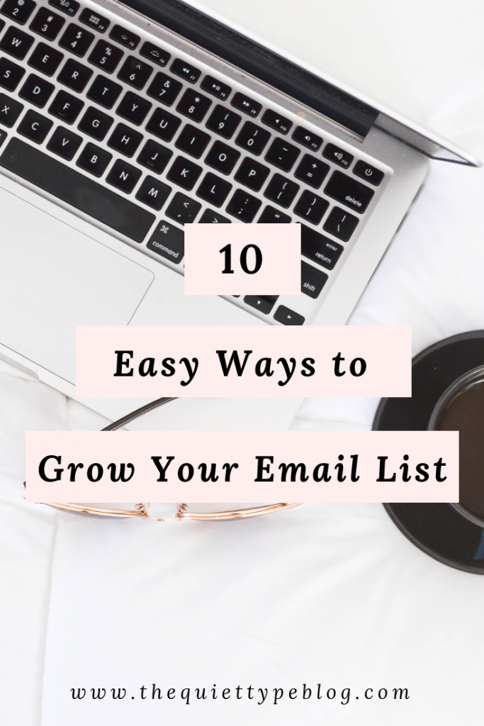 Grow your email list using these ten easy ideas for email list opt-in freebies.