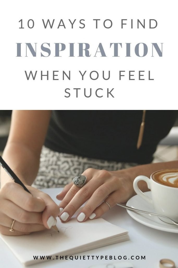 Feeling stuck in a creative rut? Here's how to find inspiration as a creative entrepreneur when you're feeling uninspired. #workfromhome #freelance #creativebusiness