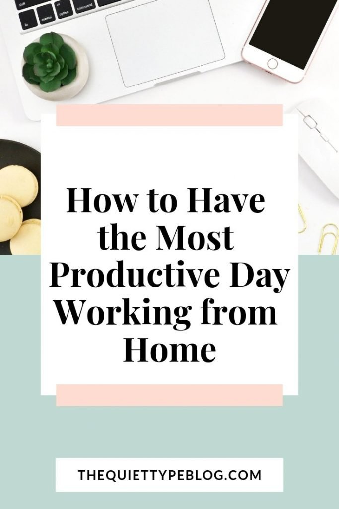 With these four tips, you'll be able to accomplish more while working from home #sidehustle #makemoney #workfromhome