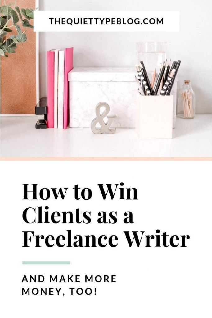 Use this simple trick to win more clients and make more money as a freelance writer. #workfromhome #freelancewriting #getpaidtowrite