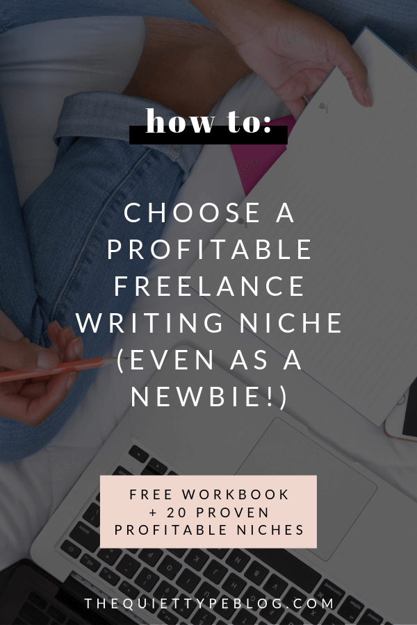 How to identify your ideal (and profitable) freelance writing niche. Freelance writing niches for beginners. How to choose a niche as a freelance writer. How to choose a profitable freelance writing niche.