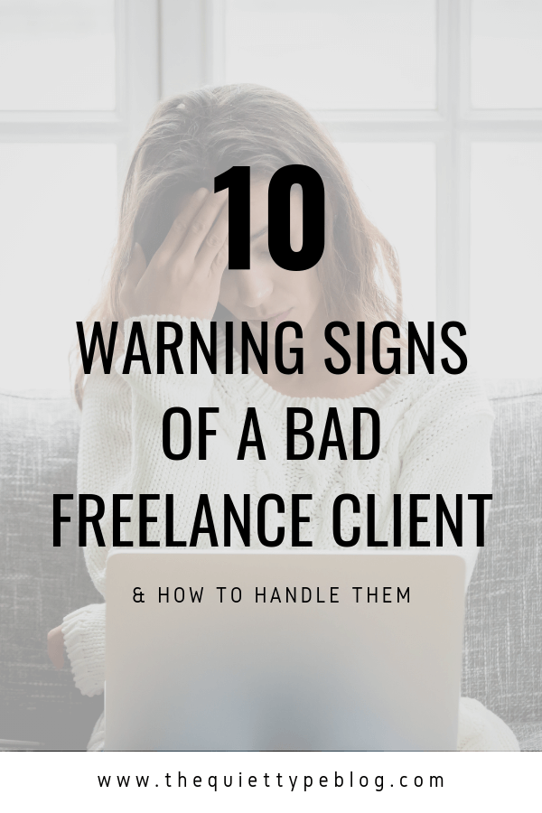 Avoiding bad freelance clients is easier said than done. Luckily, there are some indicators a client may be more trouble than they're worth. Keep an eye out for these warning signs of a bad freelance client.
