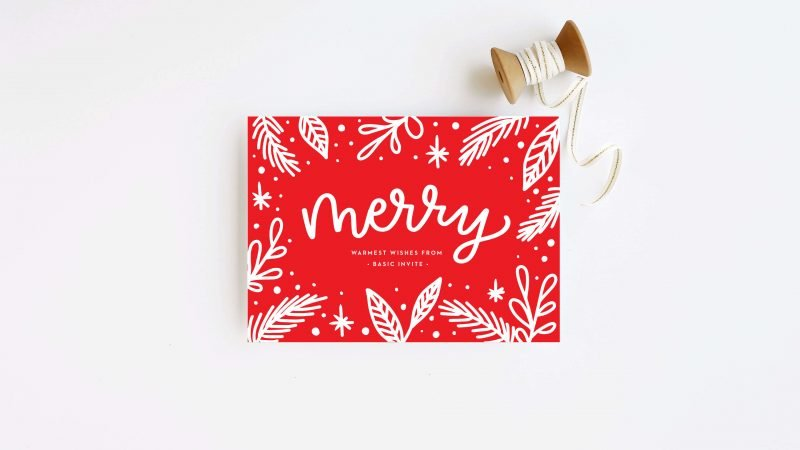 Business holiday cards for freelance clients