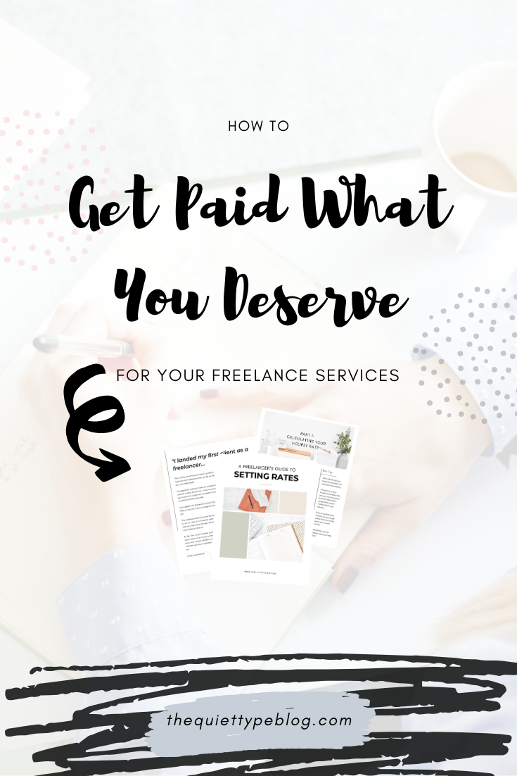 Figuring out what to charge and making money as a freelancer can be challenging—but it doesn't have to be! This blog post takes the mystery out of setting rates as a freelancer, making it easy to calculate your ideal rates so you can finally get paid what you deserve! Click to get the details and grab your free workbook, A Freelancer's Guide to Setting Rates. #MakeMoneyOnline #WorkFromHome #FreelanceRates