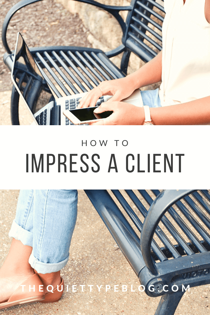 Struggling to convert new clients to long-term clients? Here is how to impress a freelance writing client so they keep coming back for more!