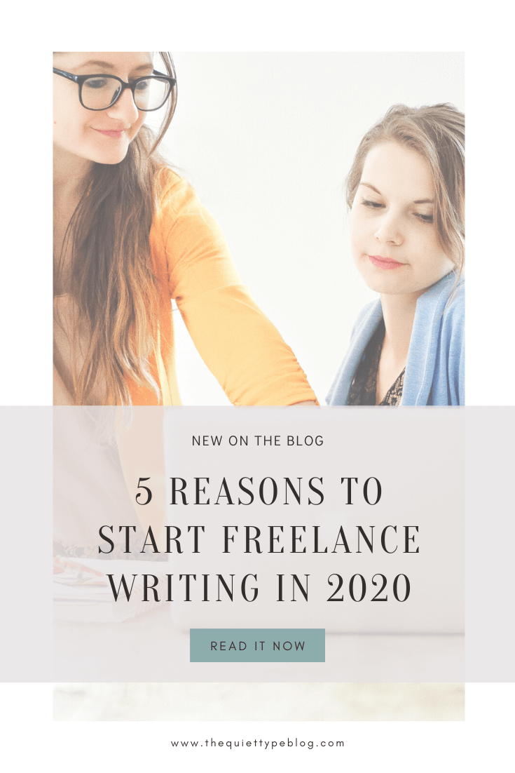 Wondering if 2020 is the perfect time to start freelance writing? You'd be right! Here's why you should become a freelance writer and earn more money working from home.