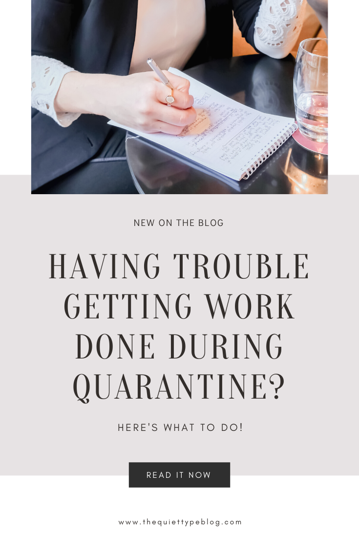 Are you struggling to get work done during quarantine? You're not the only one! For those not used to it, making the transition to working from home or simply being home long-term in general, can be challenging especially in times like these. If you've been finding it difficult to be productive, or just feel overwhelmed, these useful tips will help to put you in the right mindset for getting work done during quarantine.