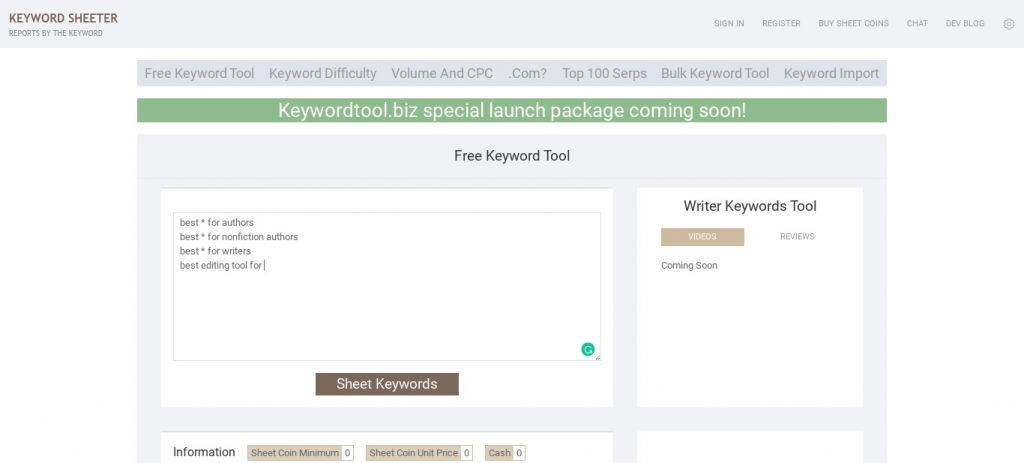Keyword Search Tools to Make Money Blogging