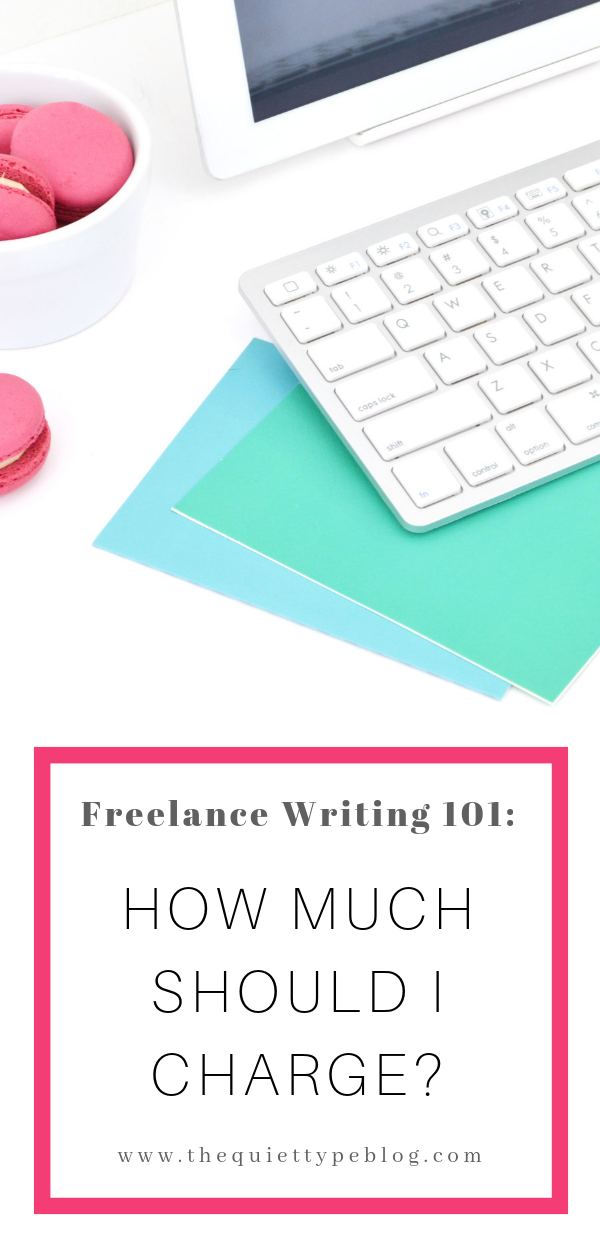 Here's how to determine what to charge as a freelance writer and make money working from home. #GetPaidToWrite #MakeMoney #WorkFromHome