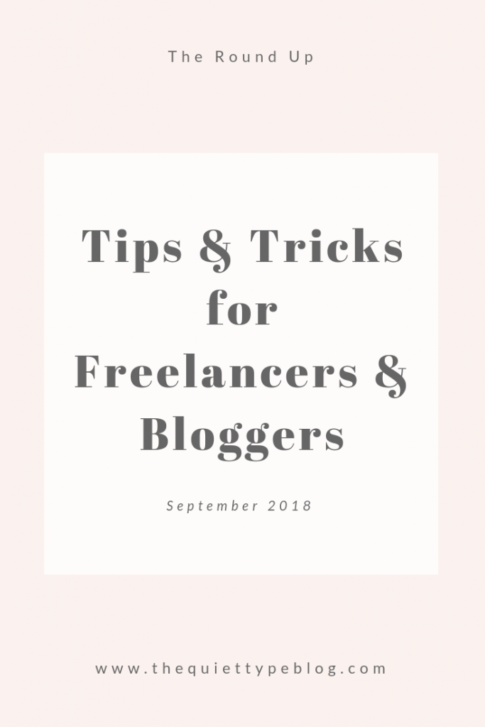 Check out all the tips and resources from September that have helped my freelance writing business and blog.