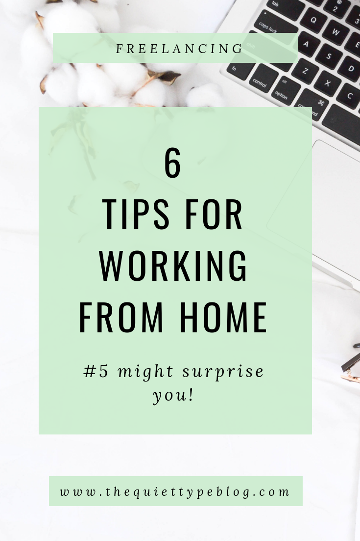 Are you a full-time freelancer or creative entrepreneur? Check out these 6 tips to successfully work from home!