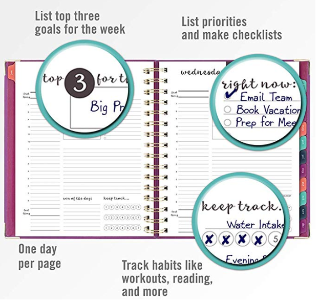 The perfect planner to keep freelancers, creative entrepreneurs, and students organized and on track.