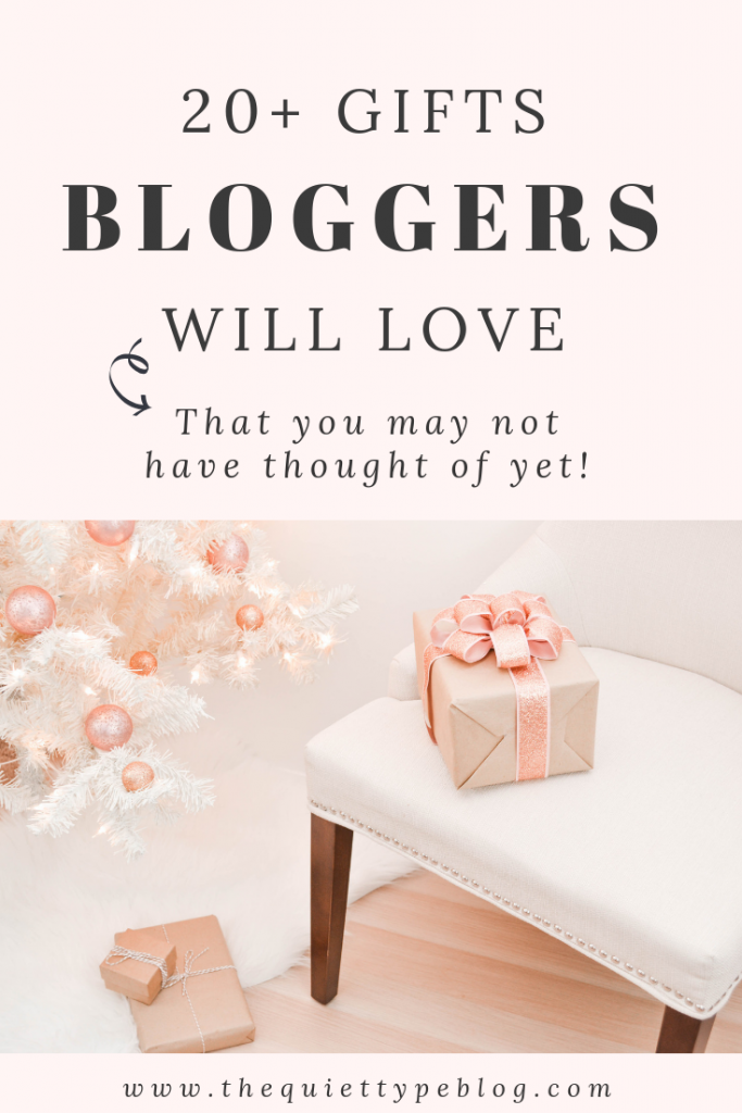 20+ gift ideas for bloggers ranging from practical to fun that bloggers are guaranteed to love!