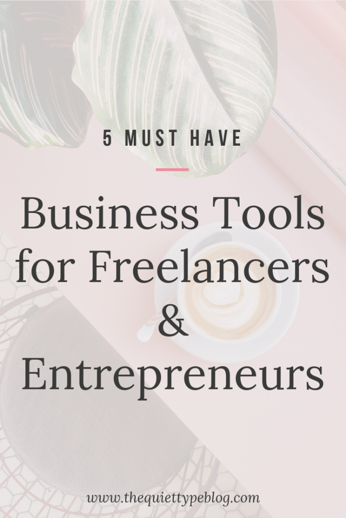 Stay organized as a freelancer or creative entrepreneur with these five must have tools!