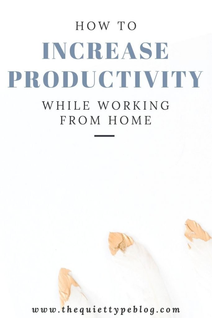 Learn how to increase your productivity while working from home as a creative entrepreneur or full-time freelancers with these ten helpful tips!