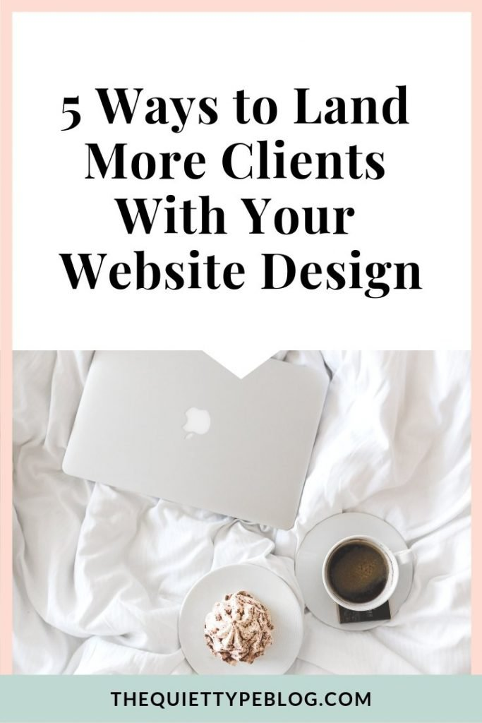 5 tips to landing more clients with a professional website design. #diywebsite #webdesign #business