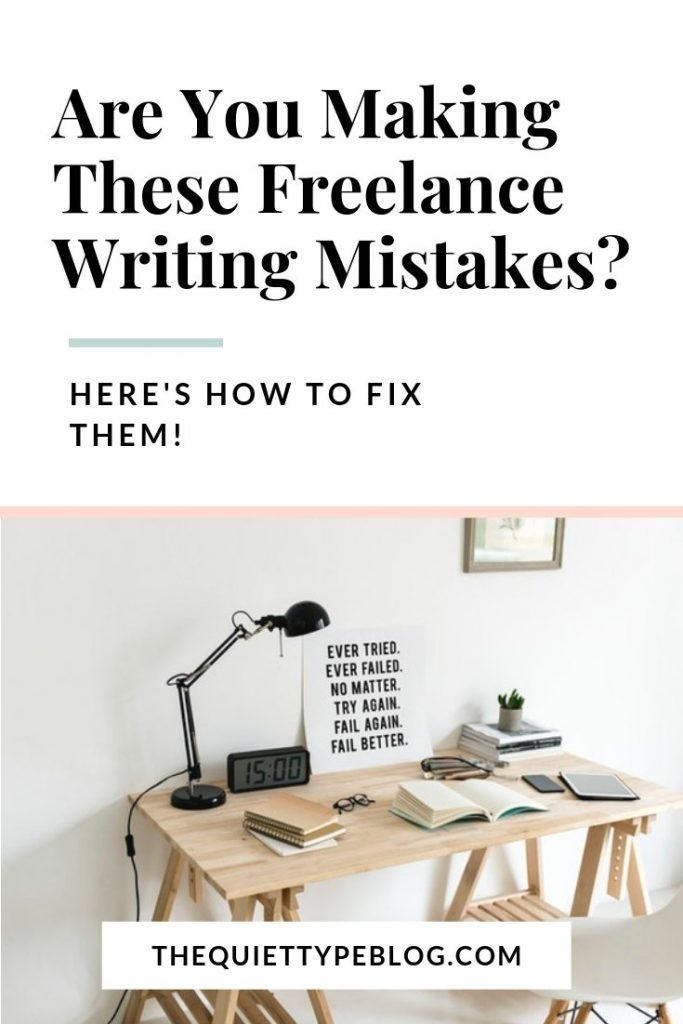 Learn what mistakes to avoid in your first year of freelance writing and how to fix them. #freelancewriting #creativebusiness