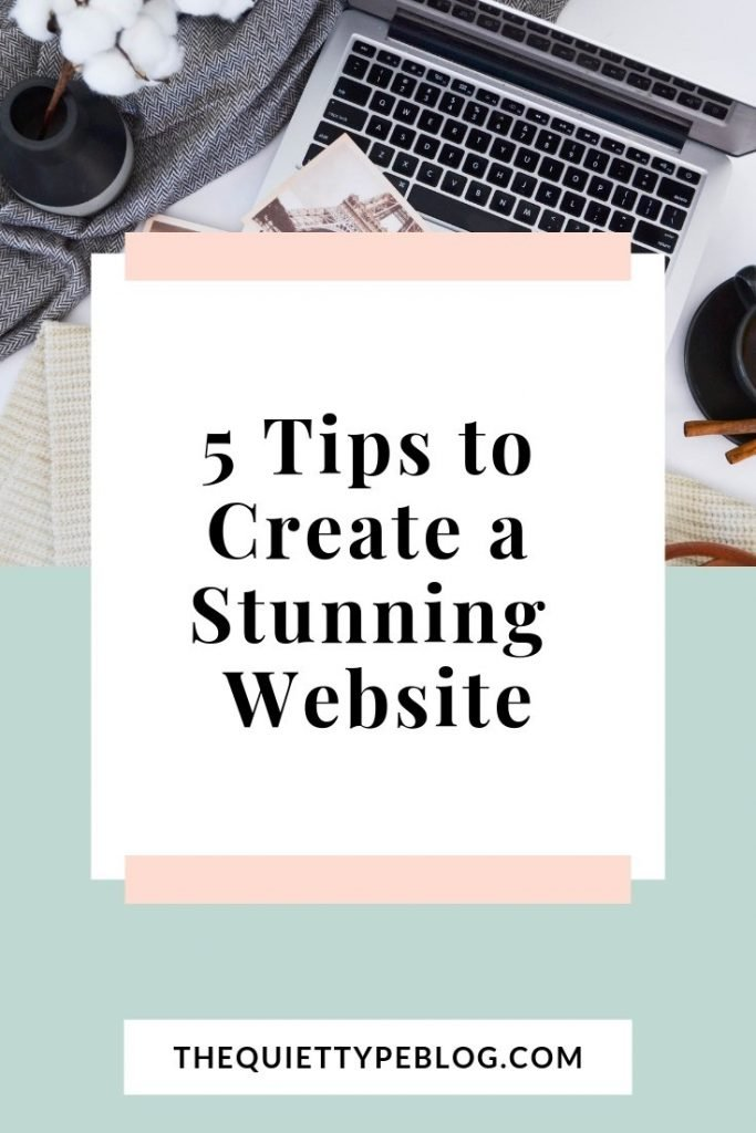 5 Tips to create a professional website for your blog or business.