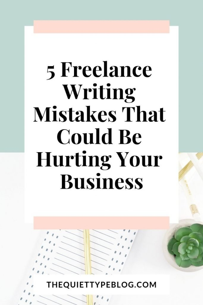 Having trouble finding success as a freelance writer? You might be making these 5 mistakes! Click to learn what they are and how to avoid them.