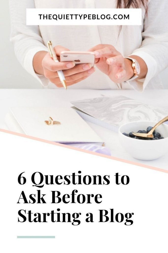 Is your goal to make money blogging and start a successful side hustle? You need to see this! Here are 6 questions to ask yourself before starting a blog.