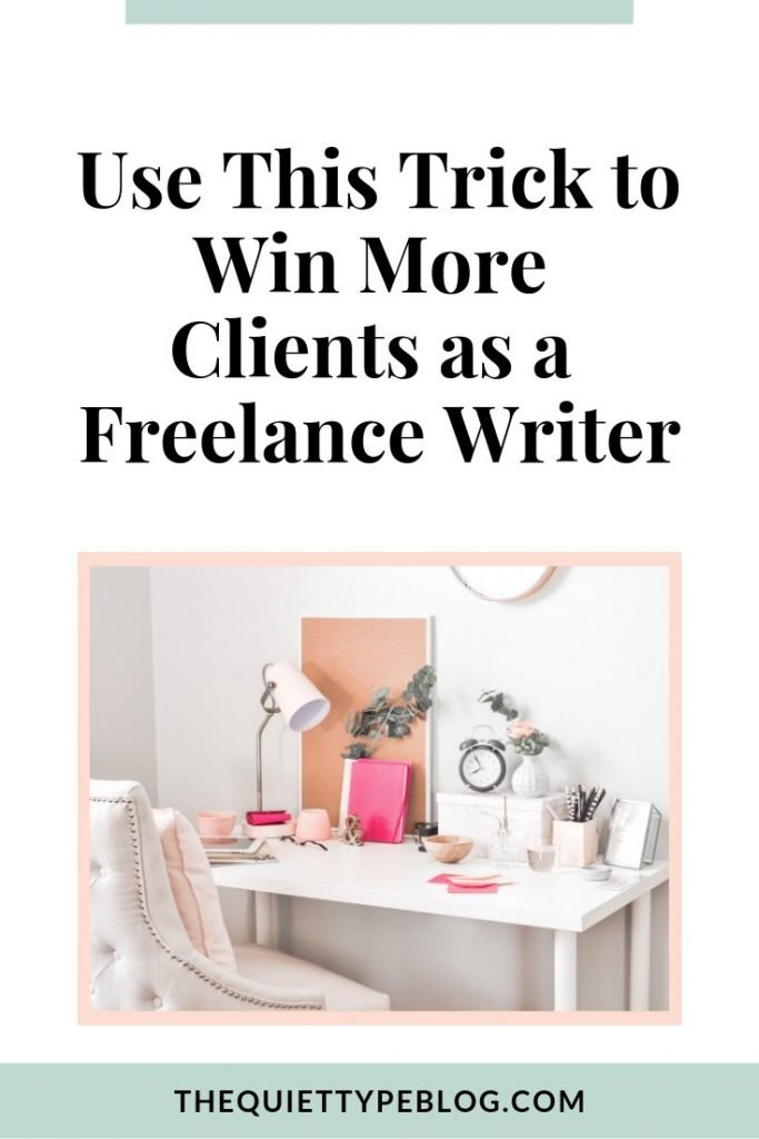 Use this simple trick to attract more clients and make more money as a freelance writer. #freelancewriting #writing #businesstip