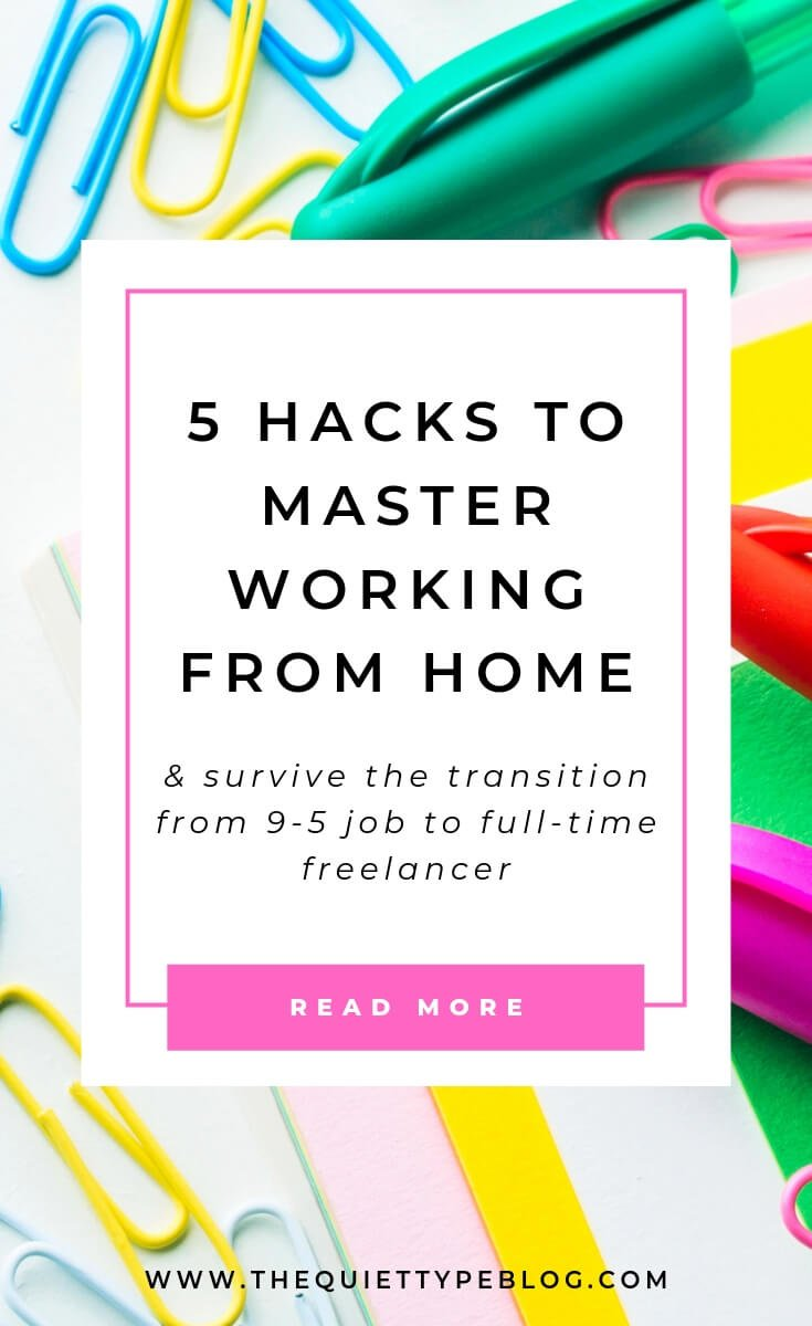 Learn how to stay productive while working from home with these easy productivity hacks!