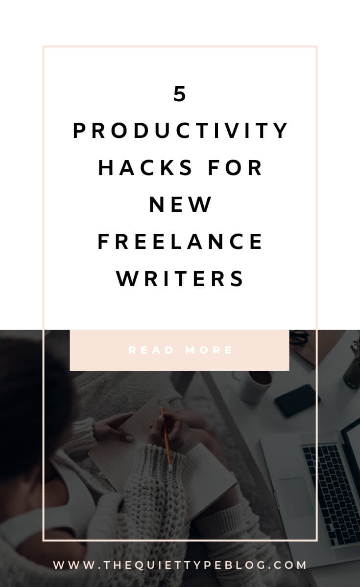 5 easy productivity tips to help new freelance writers stay focused, organized, and productive while working from home. | 5 productivity tips for freelancers working from home. | Stay motivated with these 5 tips to help freelancers stay productive while working from home.