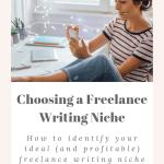 How to choose a profitable freelance writing niche. 5 steps to a choosing a profitable niche for freelance writers. How to pick a freelance writing niche. 5 simple steps to help you choose a freelance writing niche.