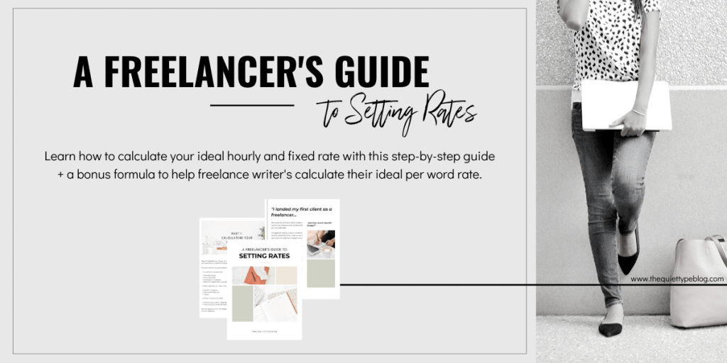 Learn how to calculate your ideal hourly and fixed rate with this step-by-step guide to setting rates as a freelancer. The workbook also contains a bonus formula to help freelance writer's calculate their ideal per word rate.