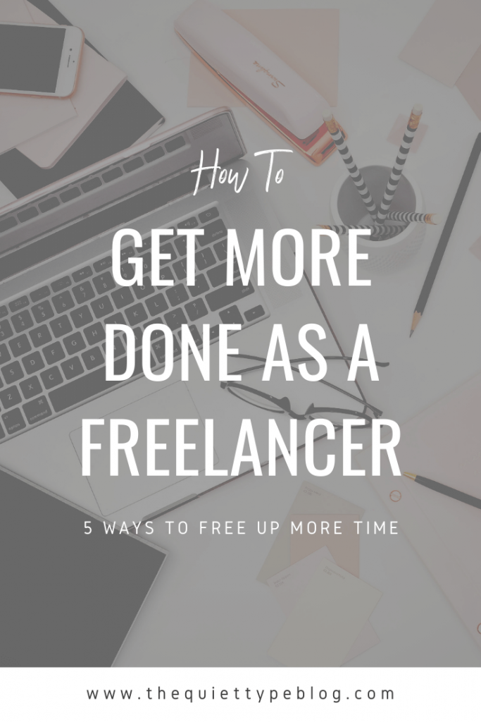 Struggling to get everything done as a freelancer? You're not alone! Juggling the day-to-day tasks of your business while completing client work is never easy. Luckily, there are ways to free up more time as a freelancer so you can get things done without feeling overwhelmed. Check out these 5 foolproof ways to improve your productivity!