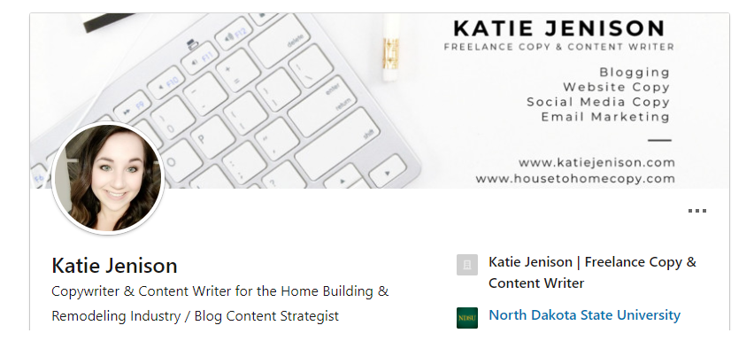 Katie Jenison Freelance Copywriter and Content Marketing Strategist LinkedIn