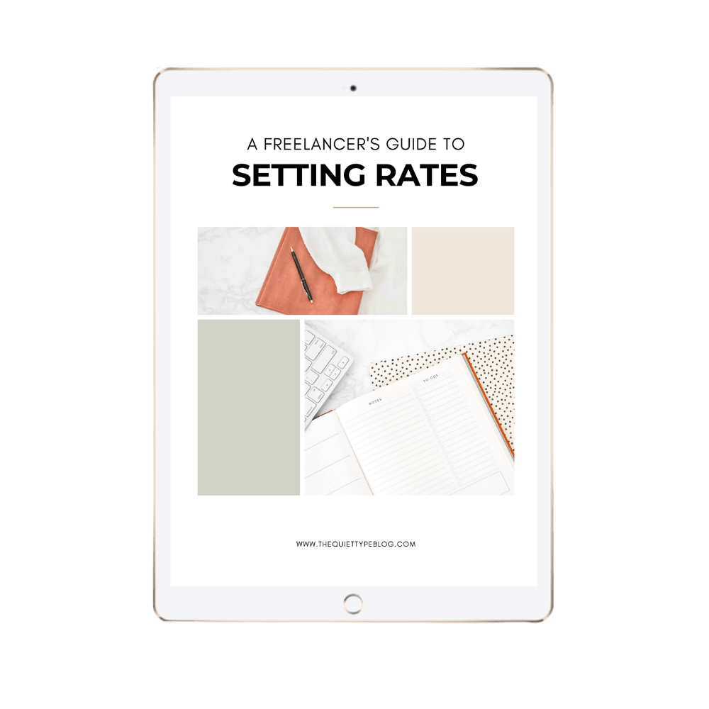 A Freelancer's Guide to Setting Rates Optin Image