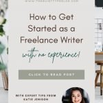 Start Freelance Writing With No Experience