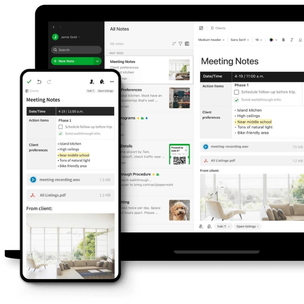 Evernote Notetaking Project Management Platform